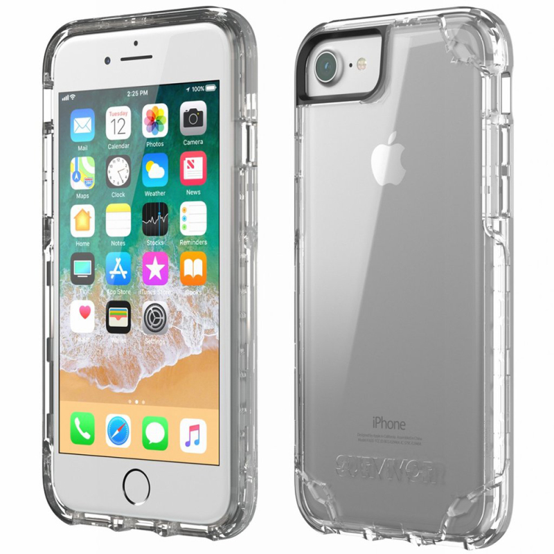 Griffin TA43834 Survivor Strong Case Cover / iPhone 8 / 7 / 6 / 6S / Drop Protected - Clear