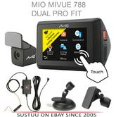 Mio Mivue 788 Dual Profit|Front+Rear Car Dash Cam Kit|1080p HD AccidentRecording