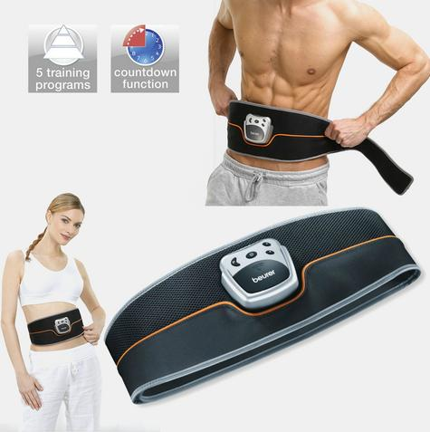 Beurer EM35 Abdominal Toning Slimming Belt|Unisex|LCD Display|Silver/Black| Thumbnail 1