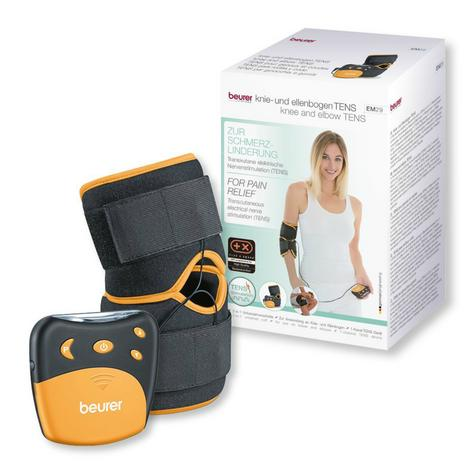Beurer EM29 2 in 1 Knee-Elbow Pain Relief TENS Therapy|Belt Clip|Universall Cuff Thumbnail 8