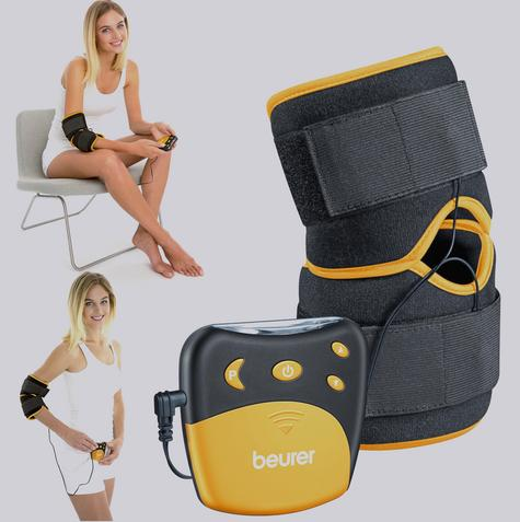 Beurer EM29 2 in 1 Knee-Elbow Pain Relief TENS Therapy|Belt Clip|Universall Cuff Thumbnail 1