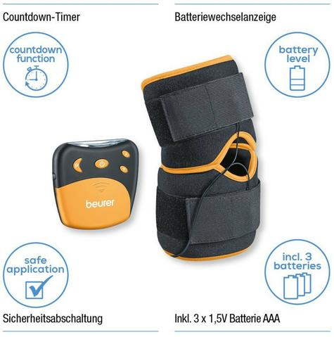 Beurer EM29 2 in 1 Knee-Elbow Pain Relief TENS Therapy|Belt Clip|Universall Cuff Thumbnail 3