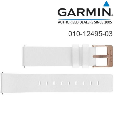 Garmin Replacement Quick Release Strap Band | For Vivomove Watch | White-Leather | New Thumbnail 1
