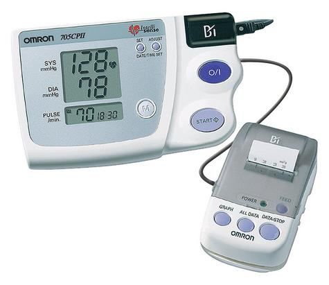 Omron 705CP II Upper Arm Blood Pressure Monitor With Thermal Printer - Brand New Thumbnail 1