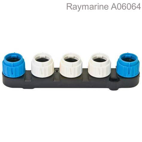 Raymarine A06064 SeaTalk NG 5-Way Connector|Spur To Backbone|Colour-Coded|IPx6 Thumbnail 1