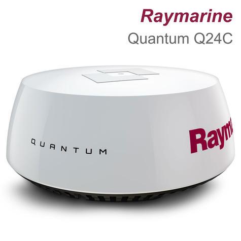 "Raymarine Q24C 18"" Quantum Radar with 10 m Power & Data Cable Black For Marine Thumbnail 1"