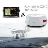"""Raymarine Q24C 18"""" Quantum Radar with 10 m Power & Data Cable Black For Marine"""