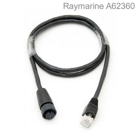Raymarine-A62360|RayNet To RJ45 Cable|Female To Male|1m|Boats & Marine Accessory Thumbnail 1