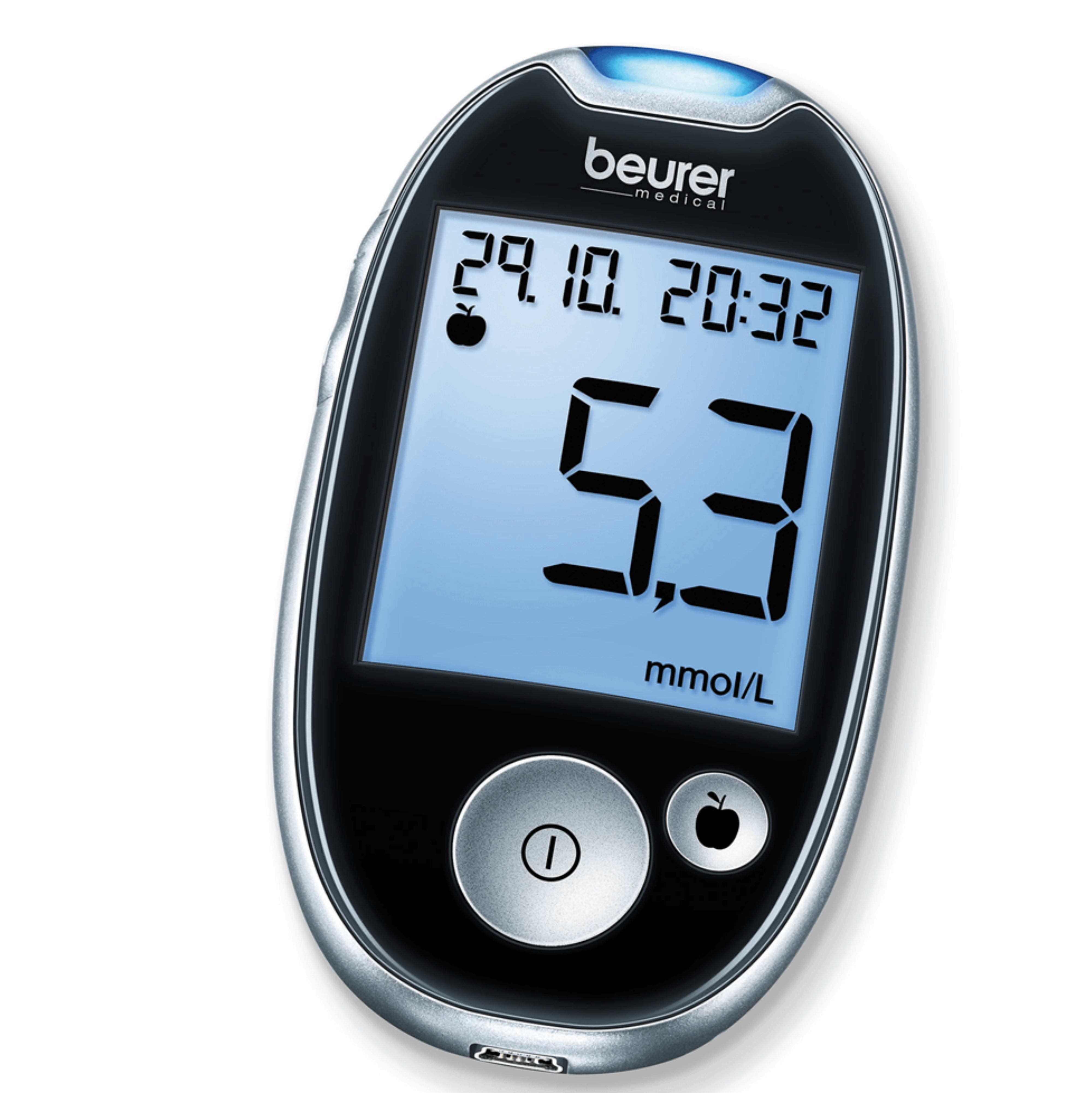 Beurer GL44 Blood Glucose Measuring Device|Large Display|Test Strip|480 Memory|