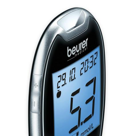 Beurer GL44 Blood Glucose Measuring Device|Large Display|Test Strip|480 Memory| Thumbnail 3