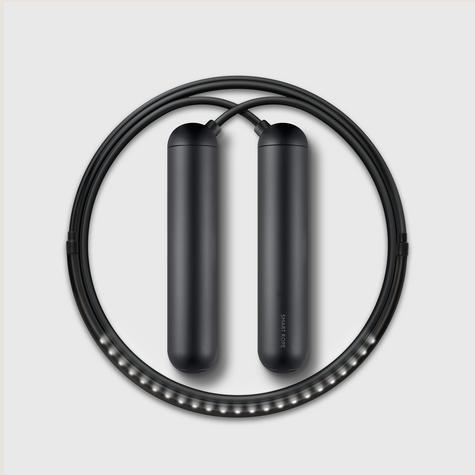 Tangram Smart Fitness Rope   23 LEDs   Chargable   Calories Burner   Black Extra Large Thumbnail 1