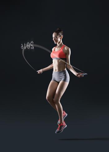 Tangram Smart Fitness Rope   23 LEDs   Chargable   Calories Burner   Black Extra Large Thumbnail 5