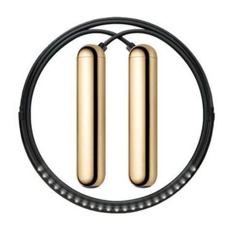 Tangram Smart Fitness Rope|23 LEDs|Chargable|Calories Burner|Gold Extra Small Thumbnail 1