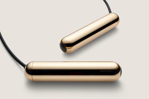 Tangram Smart Fitness Rope|23 LEDs|Chargable|Calories Burner|Gold Extra Small Thumbnail 3