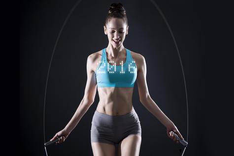 Tangram Smart Fitness Rope | 23 LEDs | Chargable | Calories Burner | Chrome-Extra Large Thumbnail 4