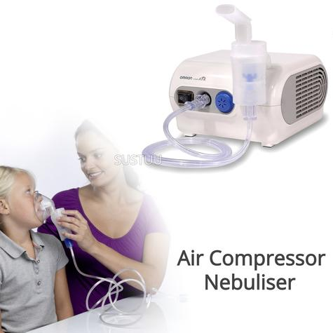 Omron NE-C28P CompAir Plus Compressor Aid Medicine VVT Nebuliser | Inhaler Mask | White Thumbnail 1