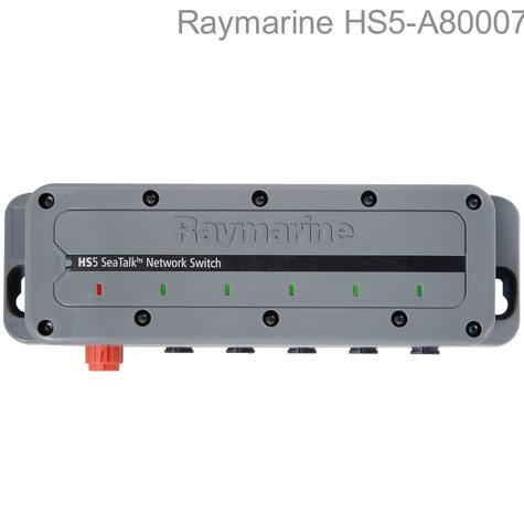 Raymarine-A80007|HS5-SeaTalk HS Network Switch|12/24V DC|5 Port|For Marine-Boats Thumbnail 1