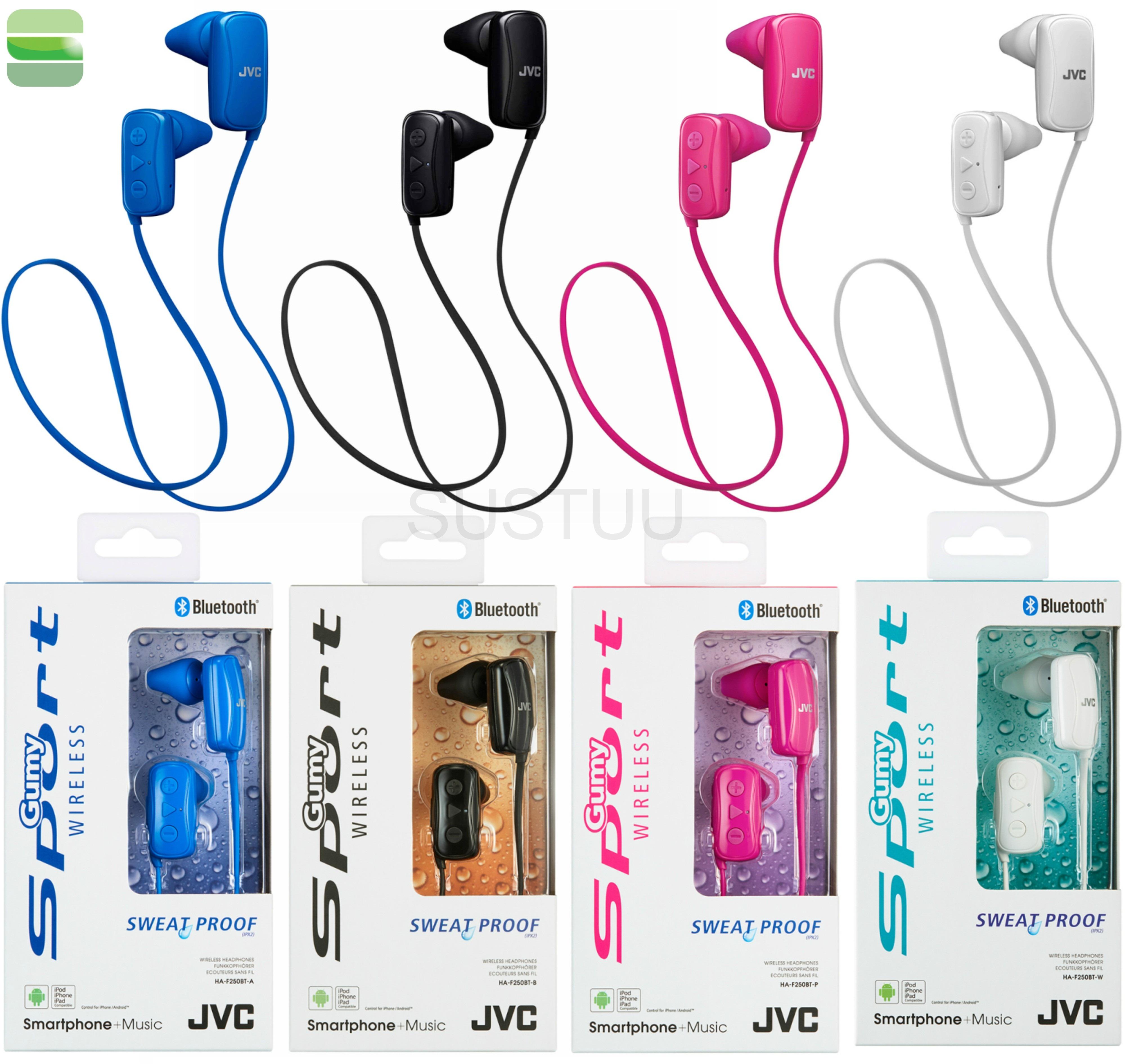 bf13fcc5b8a /JVC HAF250BTAE Gumy Sports Bluetooth Headphones|9.0mm |In Ear|Android/Ios| Blue| | Sustuu