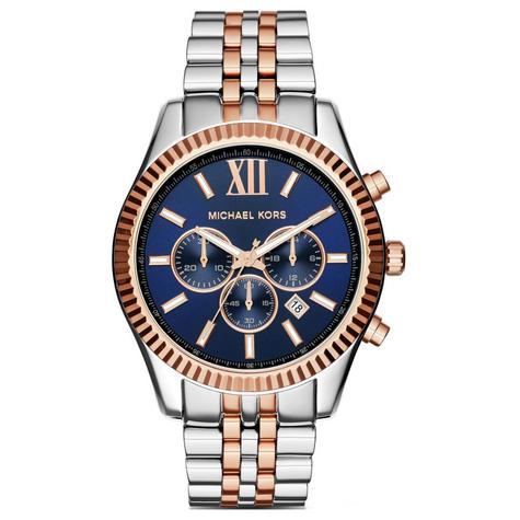 Michael Kors Gent's Lexington Men's Watch|Chronograph Dial|Two Tone Strap|MK8412 Thumbnail 1