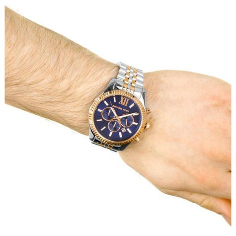 Michael Kors Gent's Lexington Men's Watch|Chronograph Dial|Two Tone Strap|MK8412 Thumbnail 4