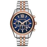 Michael Kors Gent's Lexington Men's Watch|Chronograph Dial|Two Tone Strap|MK8412
