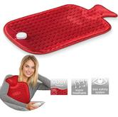 Beurer HK44 Hot Water Bottle|Warm Rubber Bag/Soft Pad|Muscle-Joint Pain Releif|3 Modes|Red