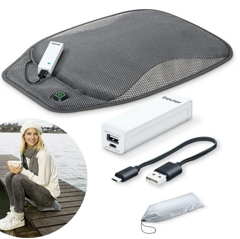 Beurer HK47 Mobile Heated Seat Pad With Powerbank|3 Heat|Charging Cable|Bag|New| Thumbnail 1
