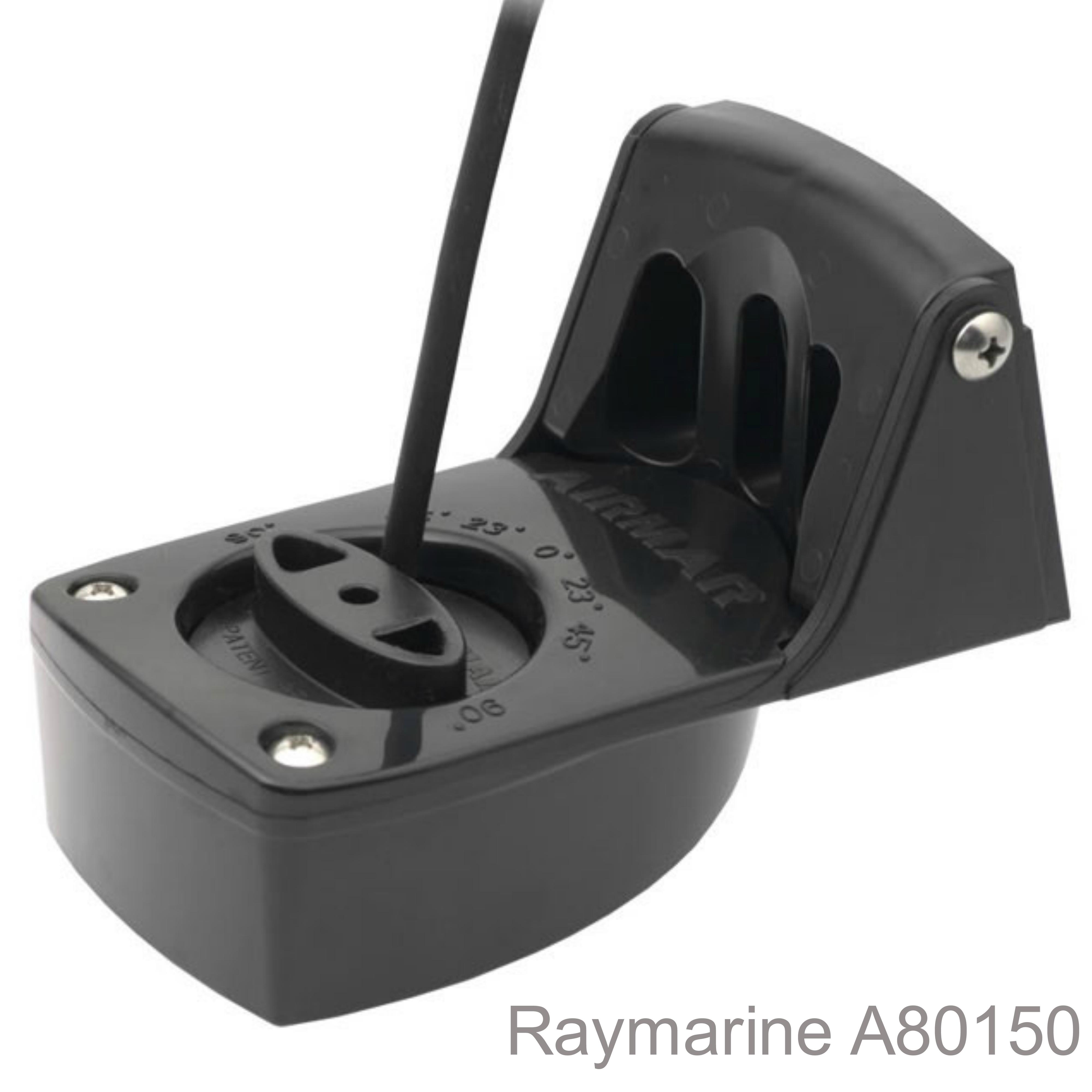 Raymarine P48 Plastic Transom Mount Transducer|Depth&Temp|100W RMS|7.6m Cable