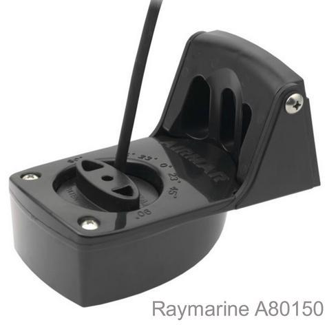 Raymarine P48 Plastic Transom Mount Transducer|Depth&Temp|100W RMS|7.6m Cable Thumbnail 1