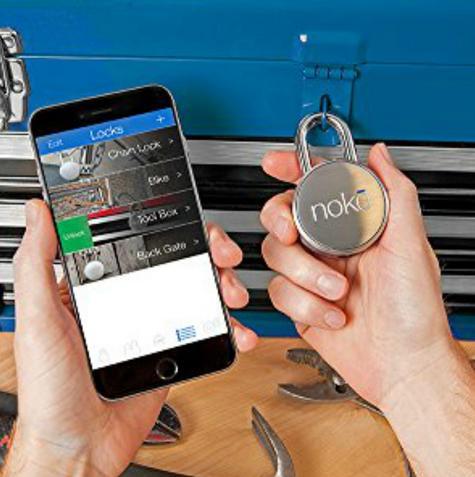 Noke FNAPS Smart Padlock|Bluetooth|Waterproof|Bike Backgate Smartphone Security Thumbnail 7