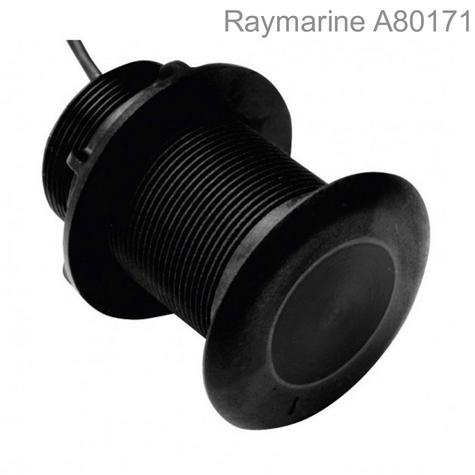 Raymarine-A80171|P319 Low Profile Thru-Hull MFD Transducer|600W|Sonar|Depth/Temp Thumbnail 1