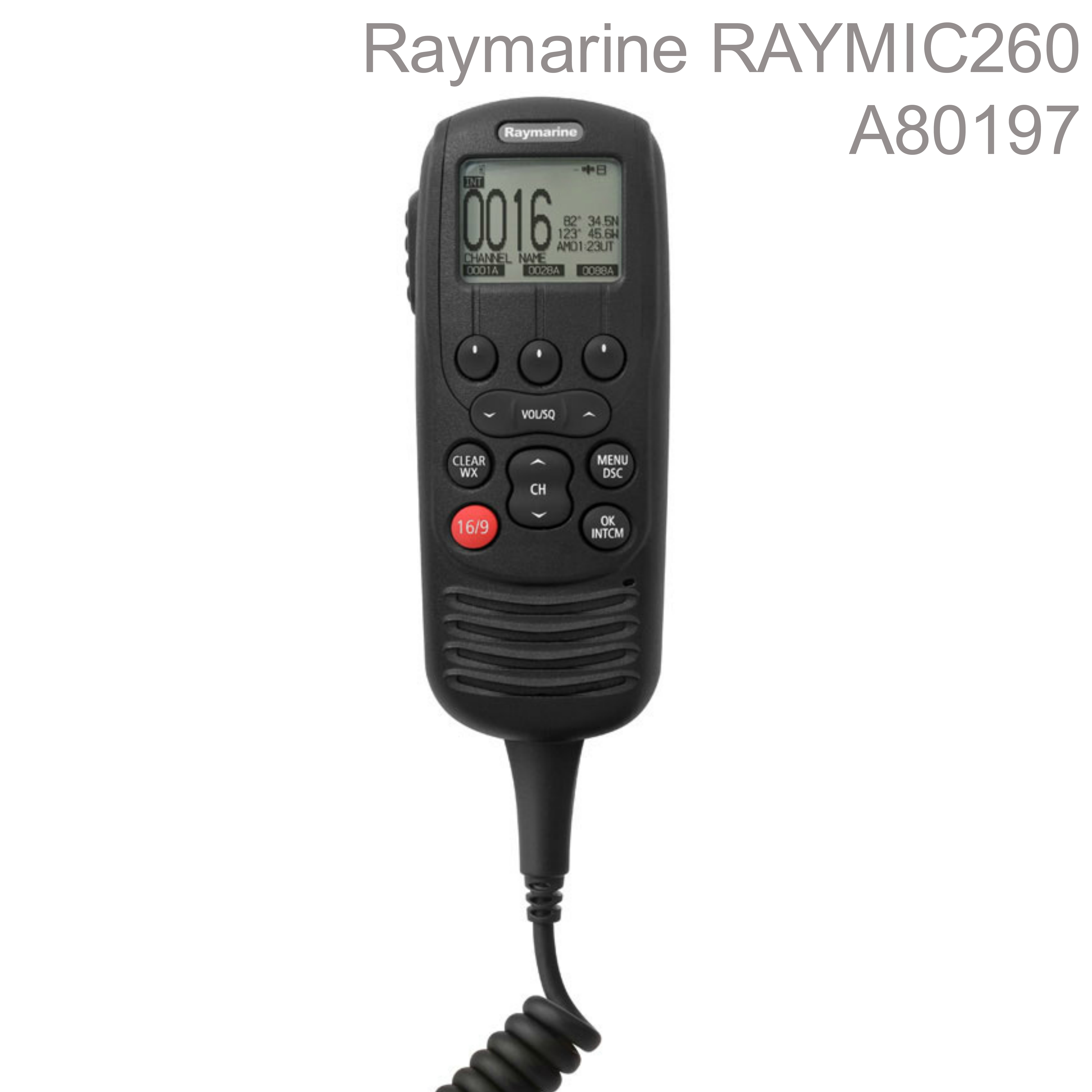 Raymarine-A80197|RAYMIC 260|10m Cable|25W|Waterproof|For VHF/Radio/AIS Receiver