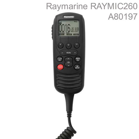 Raymarine-A80197|RAYMIC 260|10m Cable|25W|Waterproof|For VHF/Radio/AIS Receiver Thumbnail 1
