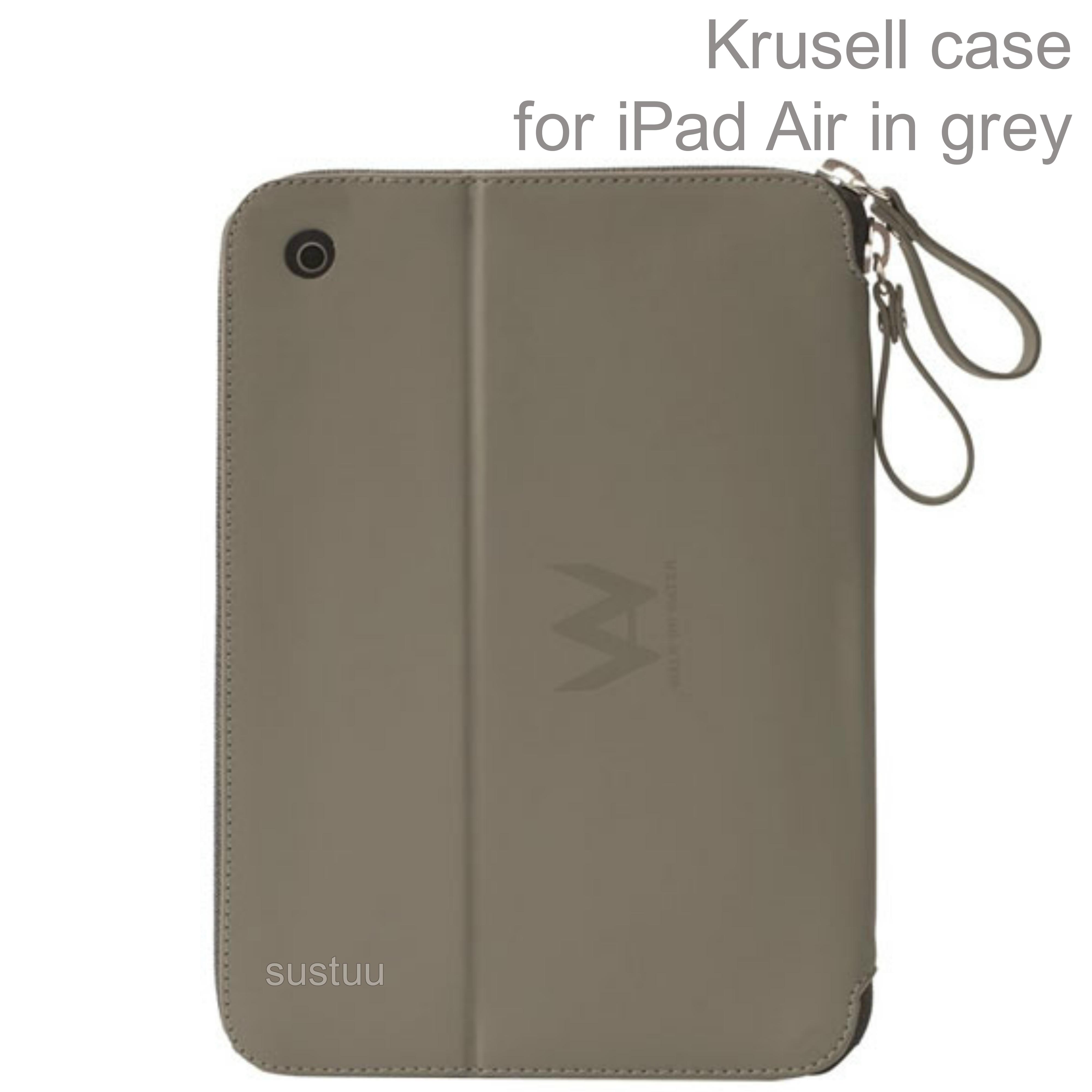 Krusell velvet look Tablet Flip Case Cover | Water Splash Proof | for iPad Air-Grey
