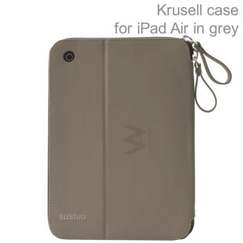 Krusell velvet look Tablet Flip Case Cover | Water Splash Proof | for iPad Air-Grey   Thumbnail 1