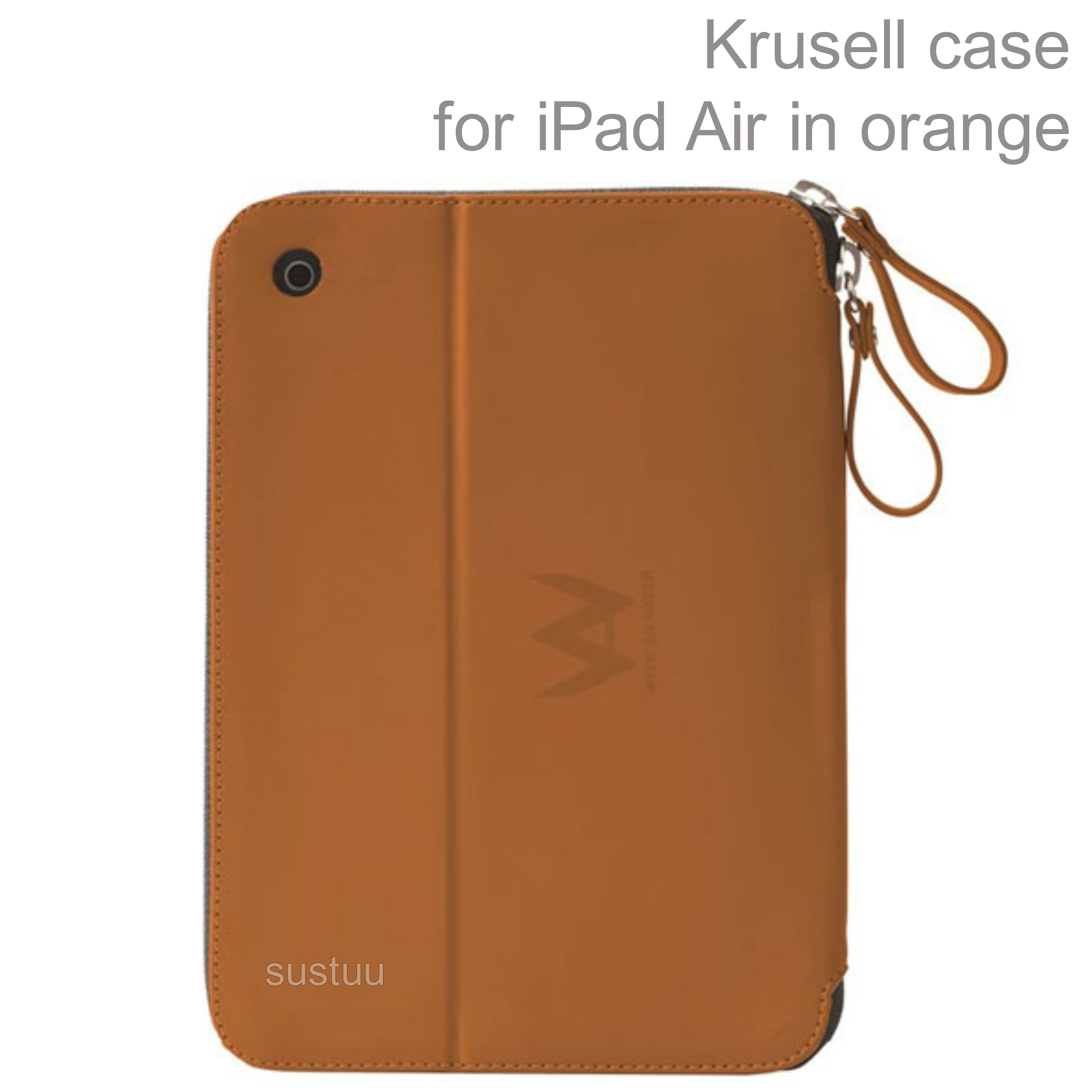Krusell velvet look Tablet Flip Case Cover  | Water Splash Proof | Pad Air-Orange |