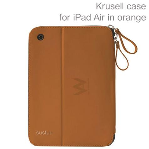 Krusell velvet look Tablet Flip Case Cover  | Water Splash Proof | Pad Air-Orange | Thumbnail 1