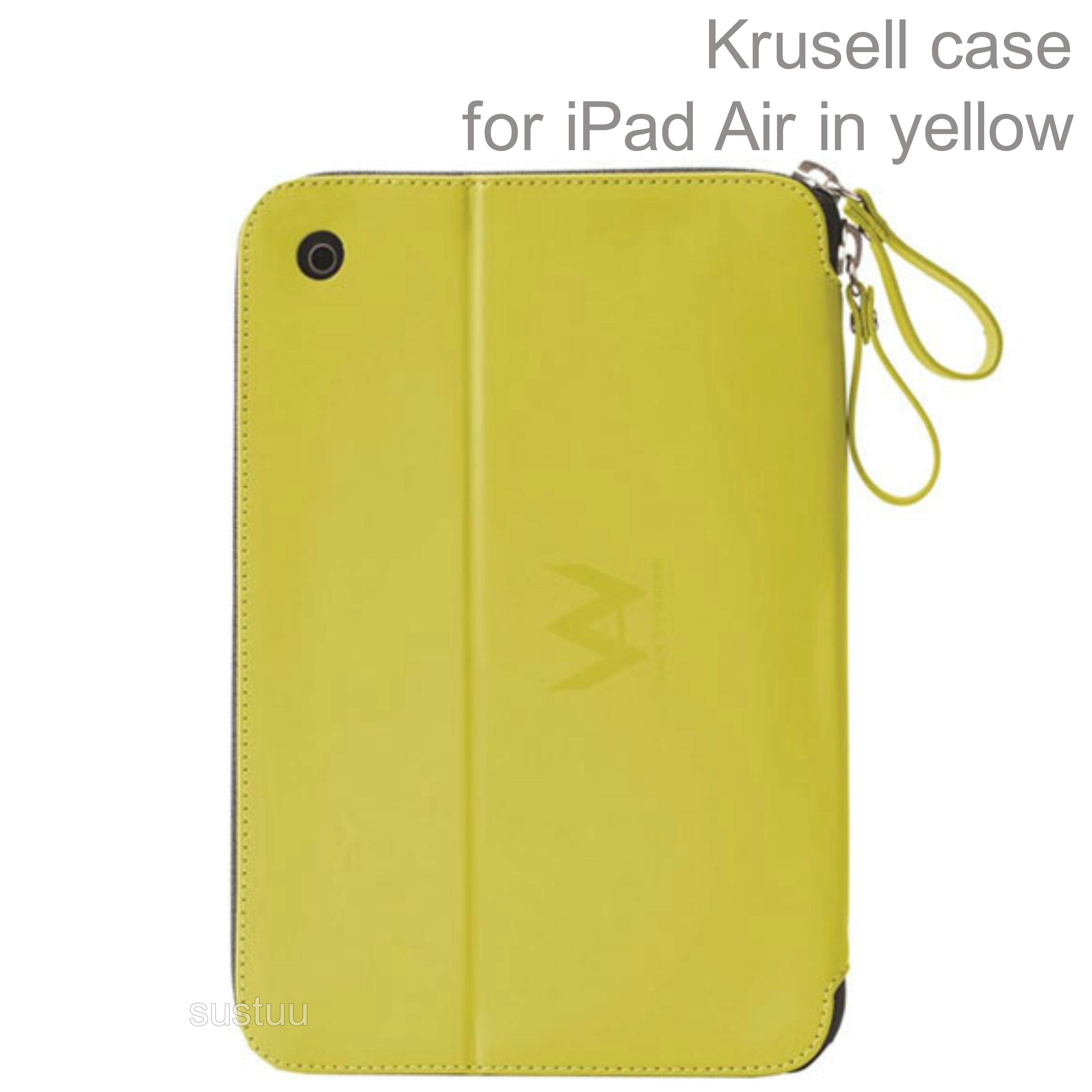 Krusell velvetlook Tablet Flip Case Cover | Water Splash Proof | iPad Air-Yellow | New