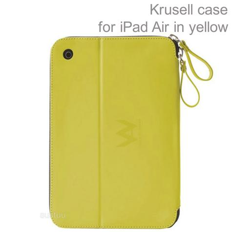 Krusell velvetlook Tablet Flip Case Cover | Water Splash Proof | iPad Air-Yellow | New Thumbnail 1