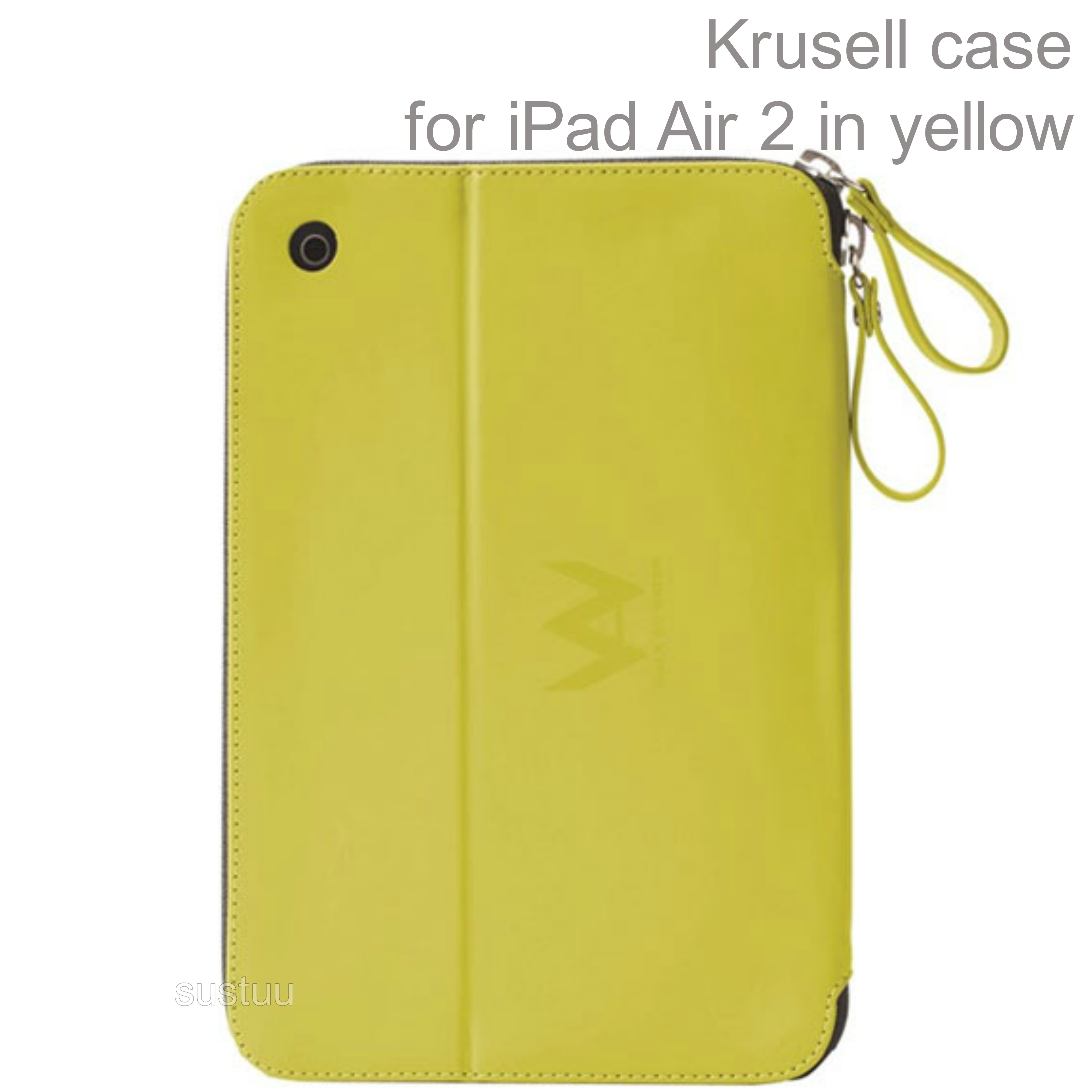 Krusell velvet look Tablet Flip Case Cover | Water Splash Proof | iPad Air 2-Yellow | New