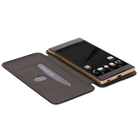 Krusell Orsa Folio Flip Case | Premium Leather Cover | Universal 4XL | SmartPhone | Black Thumbnail 3