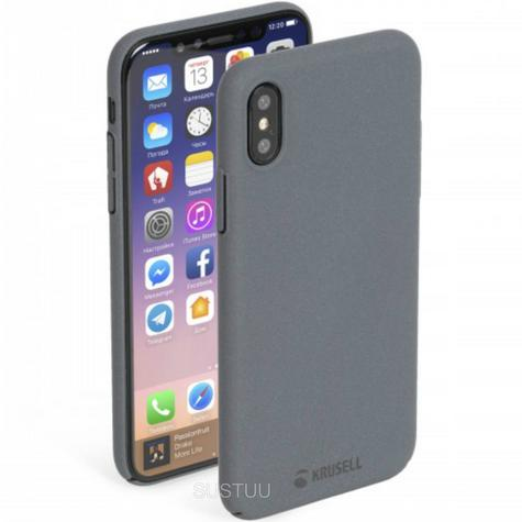 Krusell Sandby Textured Back Case | Slim Fit Hard Protective Cover | iPhone X | Dark Grey Thumbnail 1