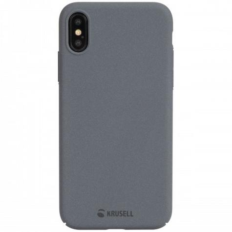 Krusell Sandby Textured Back Case | Slim Fit Hard Protective Cover | iPhone X | Dark Grey Thumbnail 3
