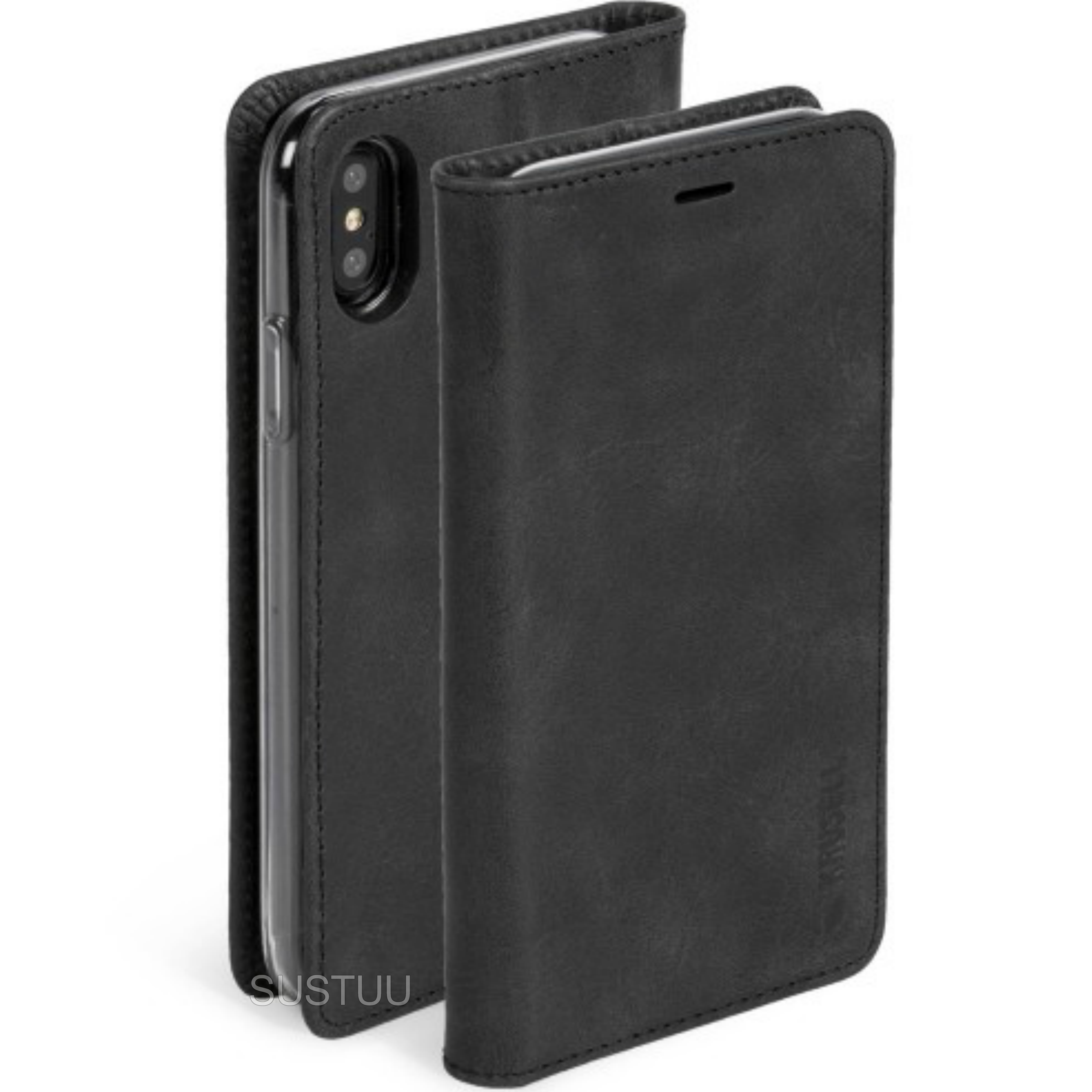 Krusell Sunne Folio Wallet + Flip Case | 4Card Protective Cover + Bill Pocket | iPhone X