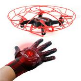 Kurio Aura Gesturebotics Flying Robotic Drone with Glove Controller | Range - 7 m