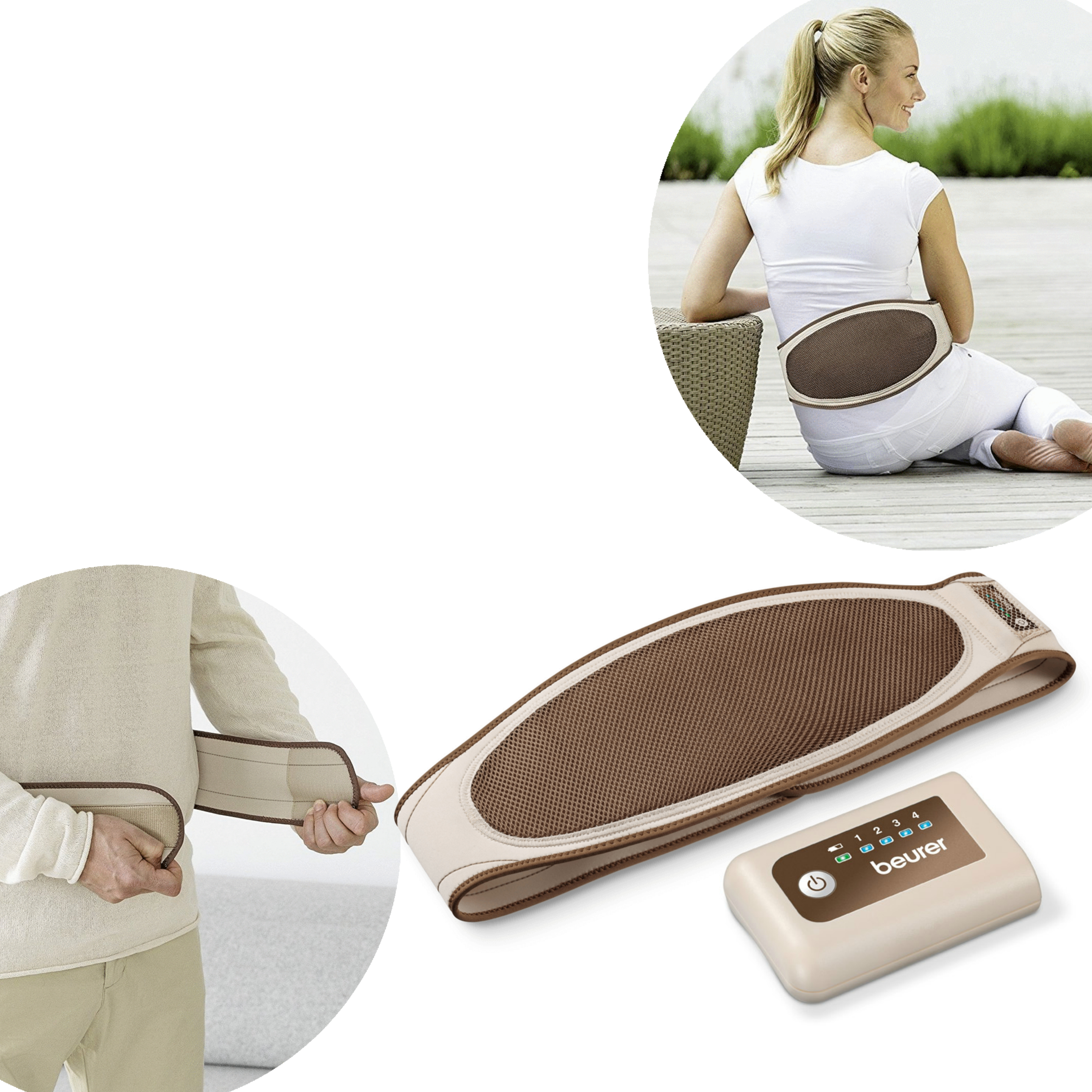 Beurer HK72 Mobile Chargable Heating Belt Pad for Abdominal & Back Pain Relief