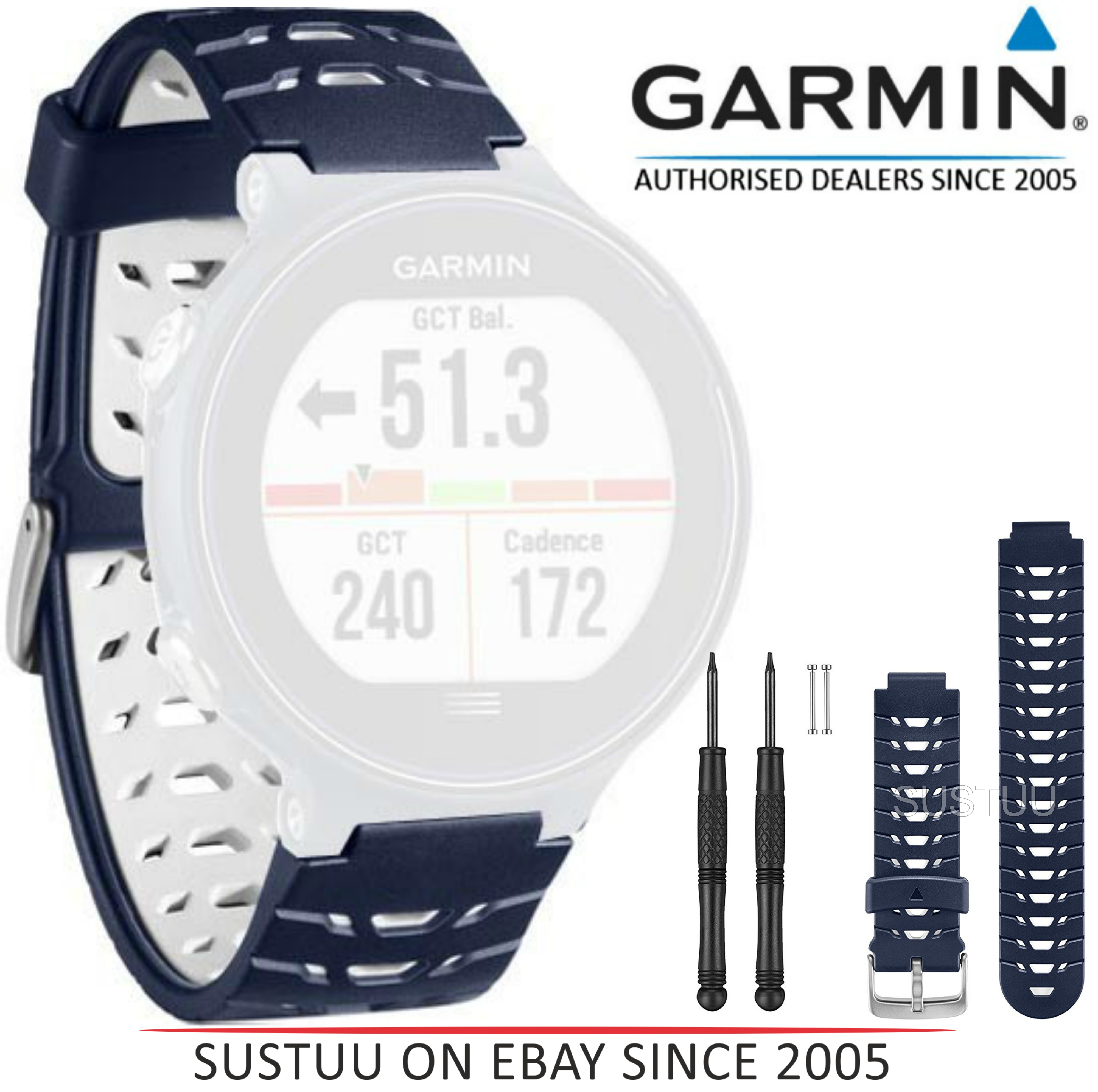 Garmin Replacement Wrist Band Strap|Fits GPS Forerunner230/235/630|Midnight Blue