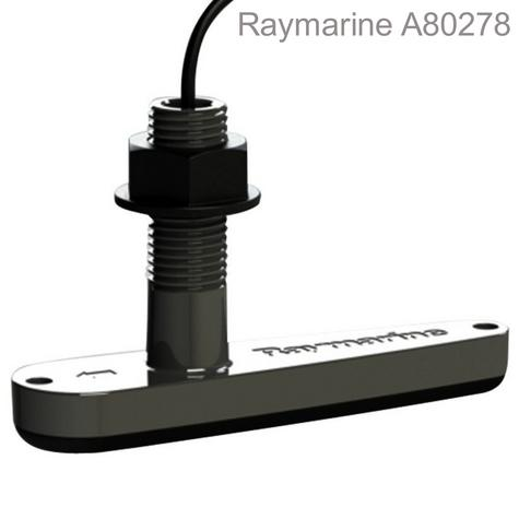 Raymarine A80277?CPT-110 Plastic Thru-Hull Transducer?10m Cable?Depth/Temp/CHIRP Thumbnail 1