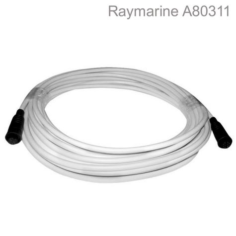 Raymarine-A80311|Quantum Radar System Data Cable| 25 Meter|White|For Marine Thumbnail 1