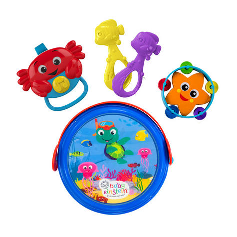 Baby Einstein Box Drum | Baby/Kids Musical Toy Set With Silly Sounds | x2 Fishes | New Thumbnail 2